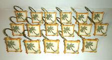 Lot of 17 Resin BAMBOO & PALM TREE Bathroom SHOWER Curtain Hooks