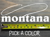 Montana Sticker Decal DIE CUT Fly Fishing Line Trout Rainbow Fish Simms Lake XO
