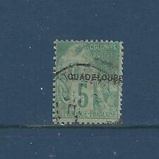 """GUADELOUPE -17 - 19 - USED - 1891 - """"GUADELOUPE"""" O/P ON FRENCH COLONIES STAMPS"""