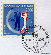 OPEN DE GOLF  FRANCE Yt 3935 OBLITERATION 1er JOUR  NOTICE PHILATELIQUE