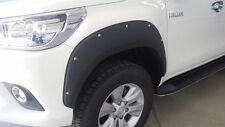 TOYOTA HILUX 2016 DOUBLE CAB 4X4 BLACK FENDER FLARES WHEEL ARCH WITH NUTS V.3