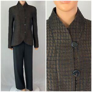 Giorgio Armani Classic Armani Collezioni Brown Black Wool Pant Suit Italy 12