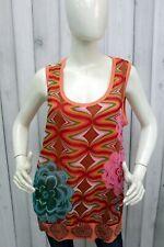 DESIGUAL Donna Taglia XL T-shirt Maglia Logo Casual Woman Maglietta Smanicata