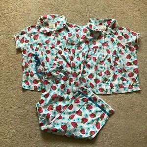 New Mini Boden Candy Pyjamas 2-3 years strawberry print Cotton