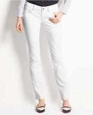 Ann Taylor - Petites 6P White Modern Slim Leg Low Rise Denim Jeans $89.00 (30)