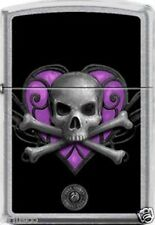 Purple Heart Death Skull by Anne Stokes Artist Zippo Lighter