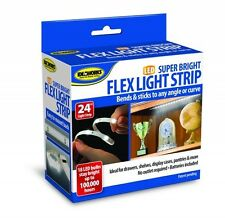 "24"" LED Flex Light Strip Super Bright Stick Anywhere Drawers Shelves Cabinet Car"