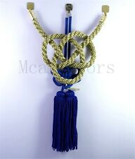 A Set Car Vip Chinese Good Luck Charms Golden Kin Tsuna Rope Blue Fusa Kiku Knot