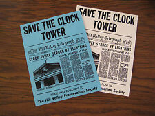 "Back to the Future - Save the Clock Tower Flyer & Poster 8.5"" x 11"" B2G1F"