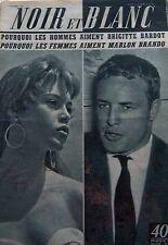 BRIGITTE BARDOT et MARLON BRANDO en COUVERTURE de NOIR et BLANC N° 550 de 1955