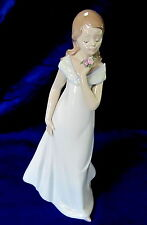 Lladro #8213 A Special Occasion Bnib Girl Flowers Limited Rare $95 Off Free Ship