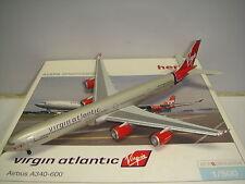 """Herpa Wings 500 Virgin Atlantic Airways A340-600 """"2000s color - Cloud Nine"""" NG"""