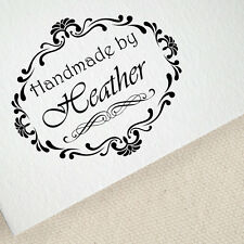 Personalized Custom Name Handle Mounted Handmade Created by Rubber Stamp RE615