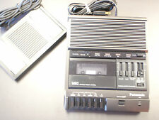 Panasonic RR830 standard cassette transcriber with foot pedal & warranty