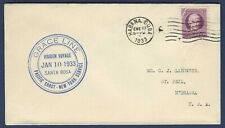Ss Santa Rosa Grace Line Paquebot Maiden Voyage Naval Cover 1933 Habana
