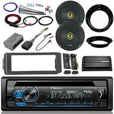 "CD Bluetooth Radio, 98-2013 Harley FLHT Install Adapter Kit,Amp, 2x 6.5"" Speaker"