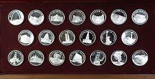 Franklin Mint Great American Landmarks Sterling Silver .925 Proof 20 Medal Set