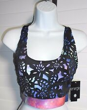 Energie Junior's Giselle Caviar/Spaced Out Workout Exercise Top Sz XL NWT