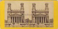 Chiesa Saint-Vincent-De-Paul De Paris Foto Stereo Vintage Albumina Ca 1865