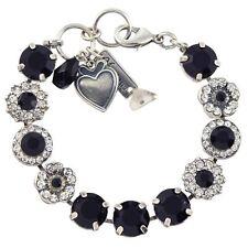 2945a8e3a Mariana Checkmate Large Bracelet, Silver Plated Black/Clear Swarovski  Crystal