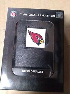 Arizona Cardinals Fine Gain Leather Trifold Wallet