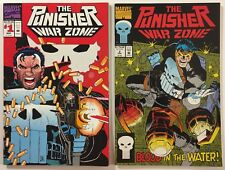 The Punisher War Zone #s 1 and 2 Marvel Comics 1992 - Hot Netflix TV Show