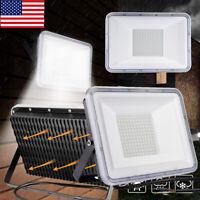 2x 100W LED Flood Light Outdoor Lighting Spotlight Yard Outdoor Garden Lamp IP65
