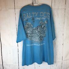 New listing Salty Dog Surf Shop Daytona Beach Graphic T Shirt Men 4 XL Short Sleeve Blue