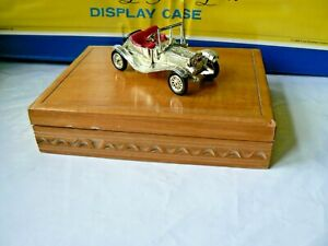 VINTAGE MATCHBOX HERITAGE SERIES WOODEN BOX WITH Y14 GOLD PLATED MODEL 1978