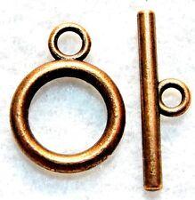 10Sets Tibetan Antique Copper Round Toggle Clasps Connectors Hooks Finding C144