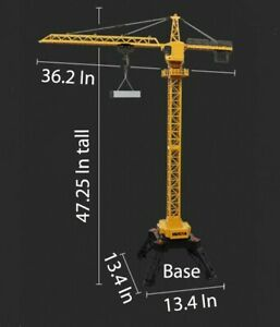 1/14 HUINA 1585 Remote Control 12 CH RC Metal Alloy Tower Crane Construction