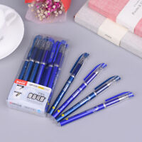 12Pcs/Pack 0.5mm Gel Ink Pen Friction Erasable Magic Blue Student Stationery