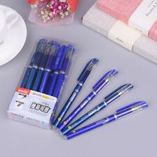 12Pcs/Pack 0.5mm Gel Ink Pen Friction Erasable Magic Blue Student Stationery