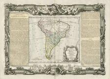 Chili, Paraguay, Brésil, Amazones et Pérou. S America DESNOS/DE LA TOUR 1771 map