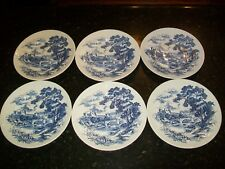LOT OF 6 WEDGEWOOD COUNTRYSIDE DINNER PLATES-MADE IN ENGLAND