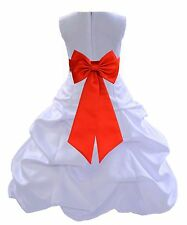 WHITE FORMAL WEDDING FLOWER GIRL PAGEANT DRESS BRIDESMAID QUINCEANERA PARTY NEW