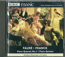 FAURÉ: PIANO QUARTET No 1 + FRANCK - PIANO QUINTET / SCHUBERT ENSEMBLE OF LONDON