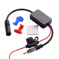 Car Truck Radio Antenna Audio Radio Stereo FM AM Signal Amplifier Booster 12V