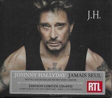 "JOHNNY HALLYDAY ALBUM 1 CD +1 DVD""JAMAIS SEUL* 14 TITRES  NEUF SOUS BLISTER"