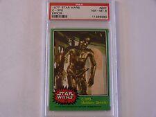 VERY UNIQUE 1977 Topps Star Wars #207 C3PO Error Card PSA-8