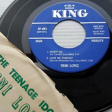 the Teenage Idol TRINI LOPEZ 1959 4 song EP 45  in rare Picture Sleeve M152