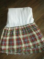 Ralph Lauren Chaps Cape Cod Bed Skirt Plaid Split Corner Dust Ruffle Queen Ec!