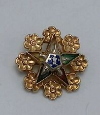 10k Solid Yellow Gold Order of the Eastern Star Small Pin (1.8g)