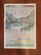 POSTER MANIFESTO,AFFICHE LOTTERIA NAZIONALE VENEZIA REGATA STORICA 1993