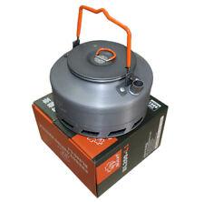 Camping Gear Tea Pot 1.1L Heat Exchanger Outdoor Water Kettle BL200-L1