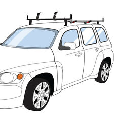"Black Chevy HHR 2 bar J2000 series ladder roof rack with 60"" bars w/ accessories"