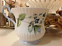 Vintage Queens Staffordshire Fine Bone China England Blue Floral Tea Cup
