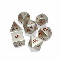 7 st. Metall Polyhedral Würfel Petroleum Spiel für Dungeons & Dragons mit Tasche