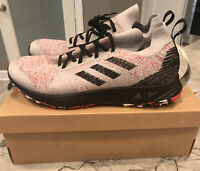 Adidas Men's Terrex Two Parley Gray Red Black Trail Running Shoes FU7659 Sz 13