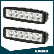 2pcs 6Inch LED Work Light 18W Pods Cube Spot Offroad SUV Driving Fog Lamps